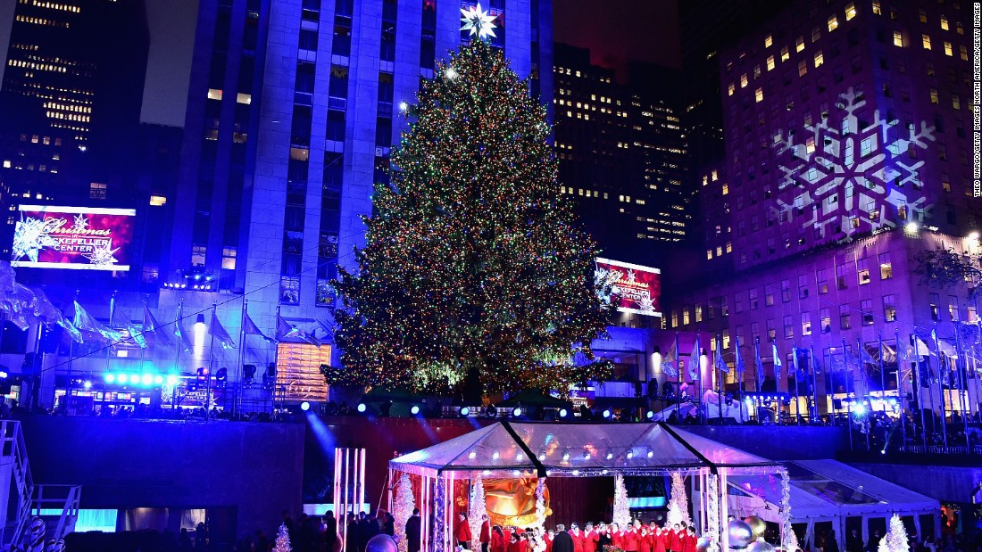 The 83rd version of the famed Rockefeller Center Tree was lit up on December 2.