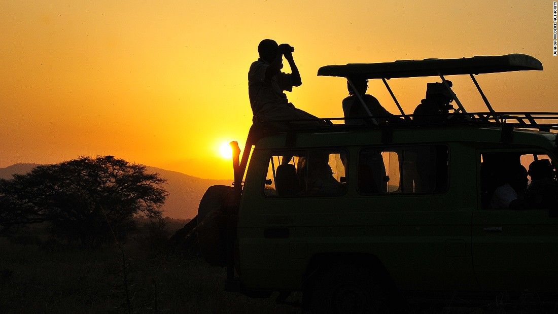 Tourists can explore Kidepo Park on a sunset game drive.