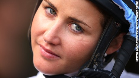 MELBOURNE, AUSTRALIA - MARCH 29:  Jockey Michelle Payne looks ahead during Melbourne racing at Moonee Valley Racecourse on March 29, 2014 in Melbourne, Australia.  (Photo by Michael Dodge/Getty Images)