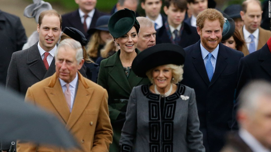 Members of the British royal family attend the traditional Christmas Day church service at St. Mary Magdalene Church in Sandringham, England.