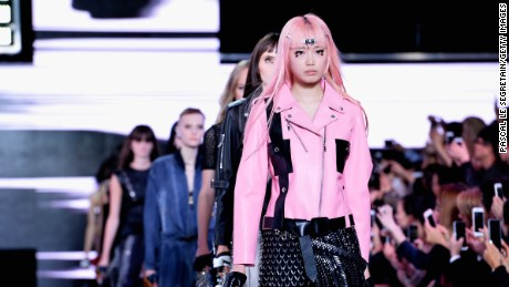 PARIS, FRANCE - OCTOBER 07:  Models walk the runway during the Louis Vuitton show as part of the Paris Fashion Week Womenswear Spring/Summer 2016 on October 7, 2015 in Paris, France.  (Photo by Pascal Le Segretain/Getty Images)