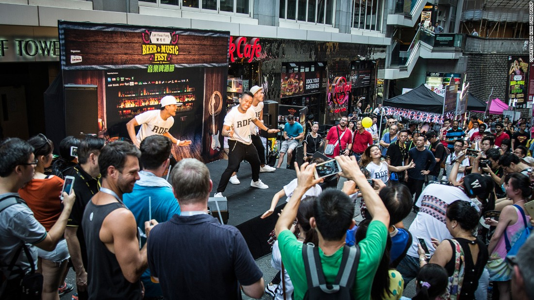 Zeman now chairs the LKF Association, a business group that promotes 100 bars and restaurants in the area. It sponsors events like this free music festival every other month.