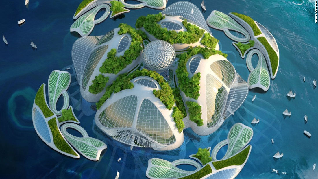 The village concept could house up to 20,000 people in the future.