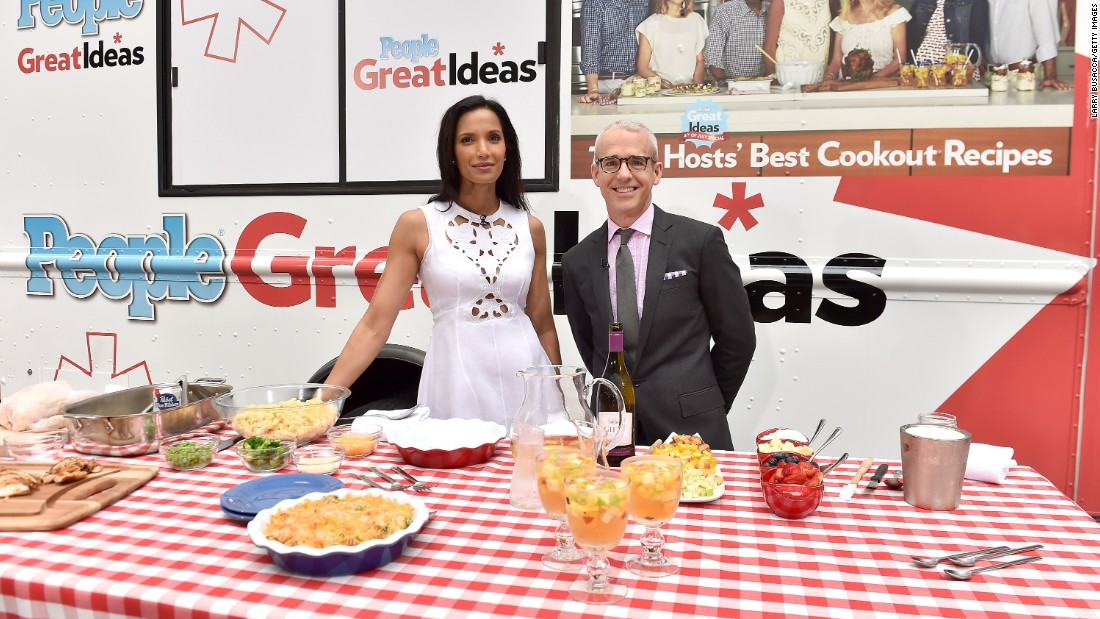 "Padma Lakshmi has a pretty delicious job. She has hosted ""Top Chef"" since 2006 and in 2015 talked about the work hazard of<a href=""http://greatideas.people.com/2015/09/15/padma-lakshmi-top-chef-weight/"" target=""_blank""> packing on pounds thanks to her gig.</a> Fans crave her and In the '90s she was a host for an Italian show, ""Domenica In."""