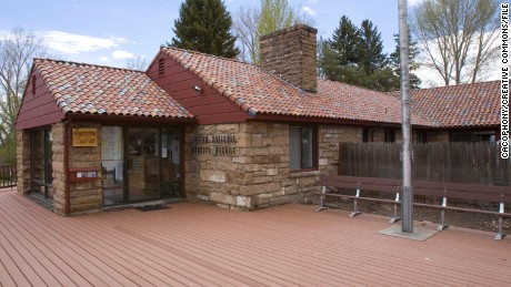 The Malheur National Wildlife Refuge headquarters building.