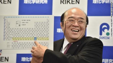 Kosuke Morita, leader of the Riken team, with the new table in Wako, Japan, on December 31, 2015.