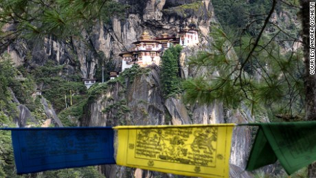 On rock cliff, Taktsang Lhakhang is the most popular attraction in Bhutan.