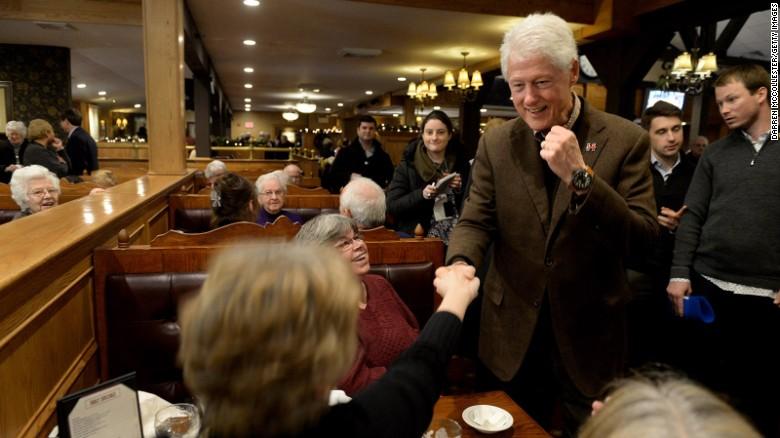 Ignoring Trump, Bill Clinton campaigns for Hillary