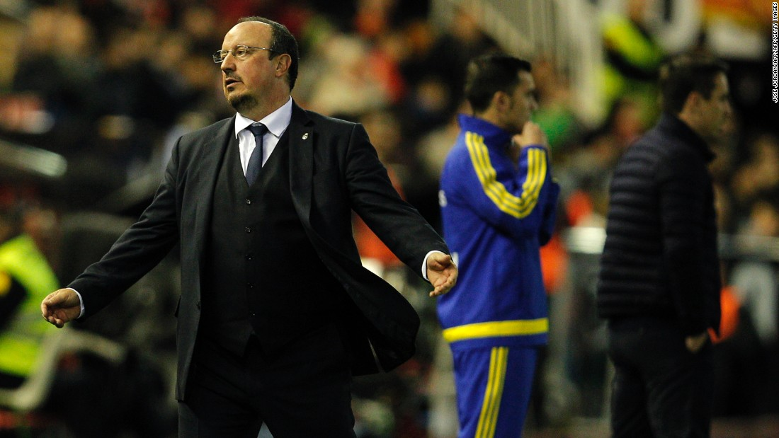 Sunday's 2-2 draw with Valencia proved to be Benitez's last game in the charge of Real, which sits third in the Spanish First Division, three points behind leader Atletico Madrid.