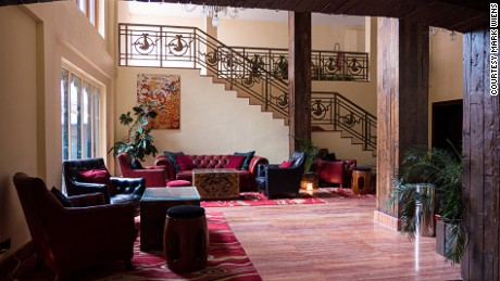 Druk Hotel houses a European bar with vintage Bhutanese wood.