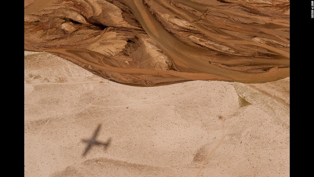 """An aerial view of the region's sand rivers in dry season. """"It's an incredible wild and pristine place,"""" Robert J. Ross tells CNN."""