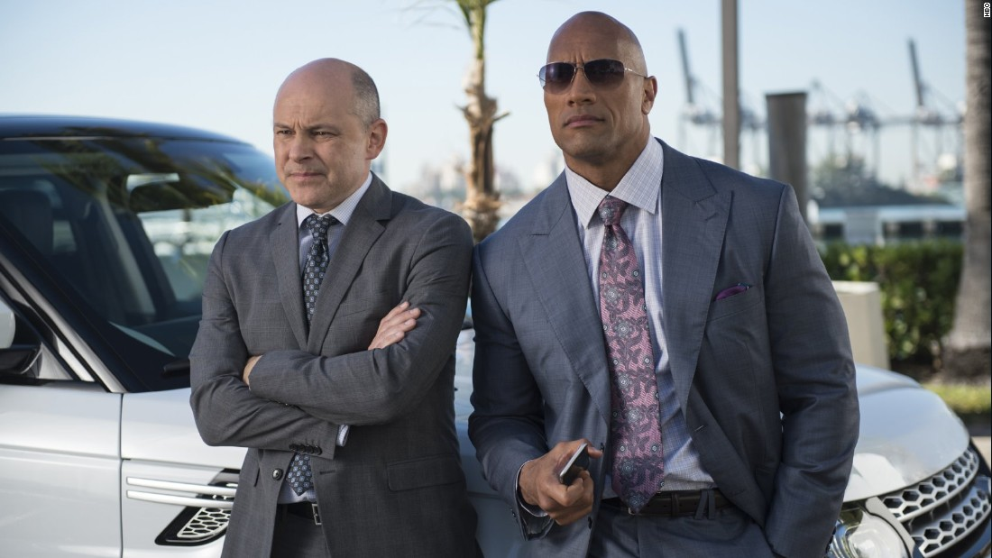 """Johnson stars alongside Rob Corddry on the HBO series """"Ballers,"""" in which he plays a football player-turned-financial manager. It became one of the network's most-watched comedies but was the subject of a copyright lawsuit."""