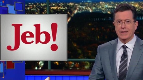 Jeb Bush logo Colbert Daily Hit NewDay_00003106