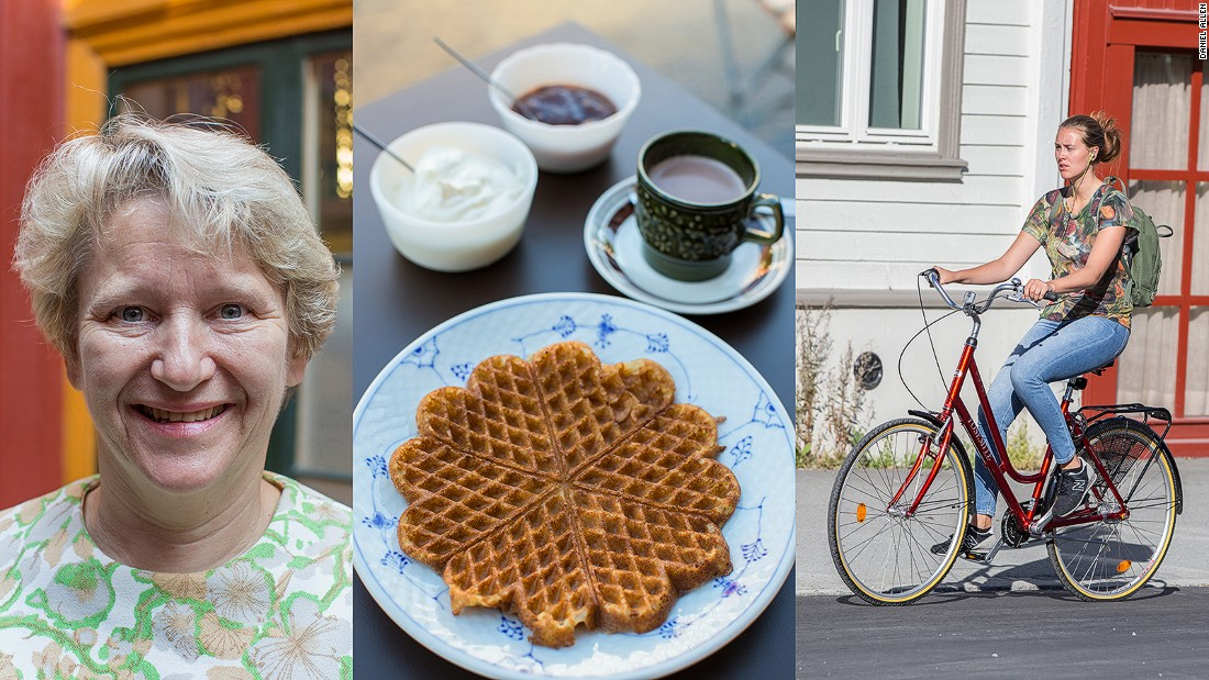 """Trondheim's students support numerous coffee shops. One of the most popular of these is <a href=""""http://www.skydsstation.no/en"""" target=""""_blank"""">Baklandet Skydsstation</a>, run by the ever amiable Gurli Riis Holmen, who serves up a selection of traditional dishes, great cakes, aquavit and hot chocolate in an 18th-century wooden house."""