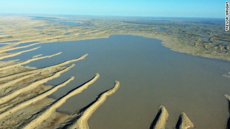 Heavy rains fill desert lake in rare event