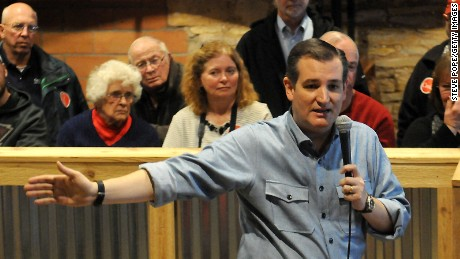 Republican presidential candidate U.S. Sen. Ted Cruz (R-TX)  from Texas and 2016 presidential candidate, speaks at a campaign stop on his 'Cruzin to Caucus' bus tour on January 7, 2016 in Humboldt, Iowa.