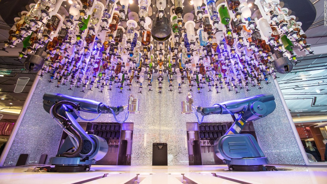 When it launches in April, the Ovation of the Seas will become Royal Caribbean's third Quantum class ship. Guests will get to experience the now famous robotic bartenders at the ship's Bionic Bar.