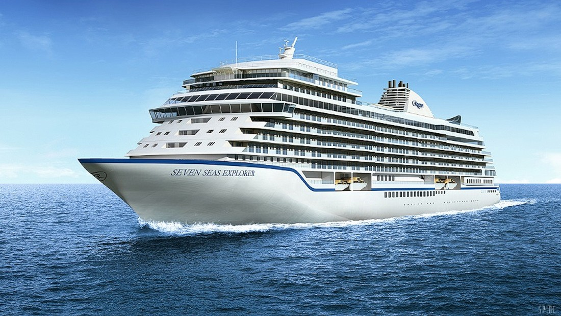 Regent's Seven Seas Explorer will carry just 750 passengers. An all-balcony luxury cruise ship, it's due to start sailing in in July 2016.
