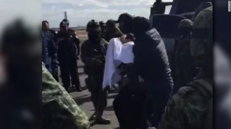 Video shows drug kingpin 'El Chapo' in custody