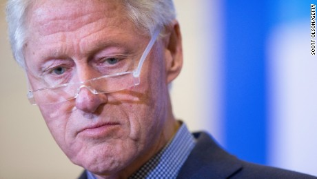 Former President Bill Clinton campaigns for his wife, Democratic presidential candidate Hillary Clinton, during a rally at the Hotel Julien on January 7, 2016, in Dubuque, Iowa.