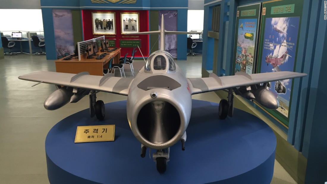 The center includes exhibits that highlight technology as well as scientific development, such as this fighter jet.