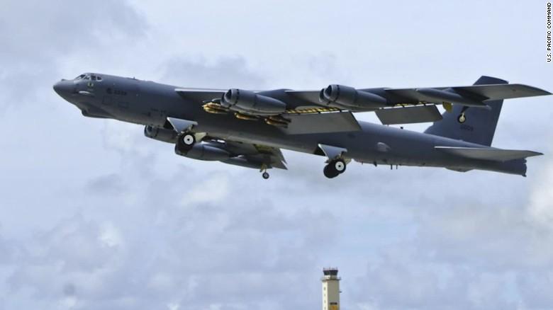 north korea h bomb b 52 fly over hancocks lok_00005628