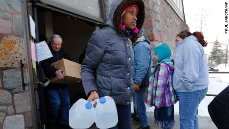 The city is now issuing bottled water to Flint residents.