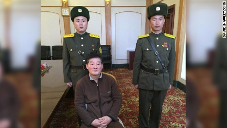 "A prisoner North Korean officials claim is a U.S. citizen. The man identified himself to CNN as Kim Dong Chul, a naturalized American who used to live in Fairfax, Virginia. Kim and North Korean officials said he was arrested in October 2015 on charges of spying for ""South Korean conservative elements."" CNN was given access to Kim's passport, but the U.S. State Department would not confirm whether he is an American citizen."