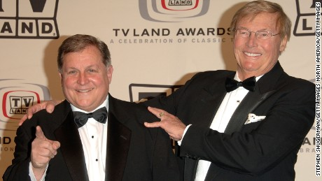 "Burt Ward and Adam West of ""Batman""at the 2006 TV Land Awards."