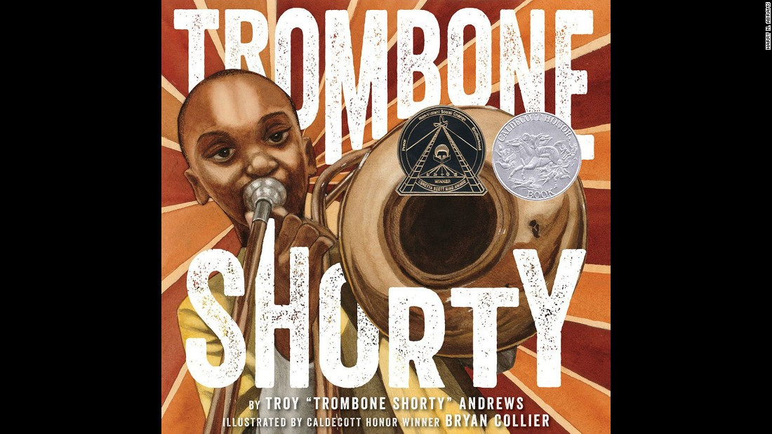 "<strong>Coretta Scott King (Illustrator) Book Award:</strong> ""Trombone Shorty,"" illustrated by Bryan Collier and written by Troy Andrews and Bill Taylor."
