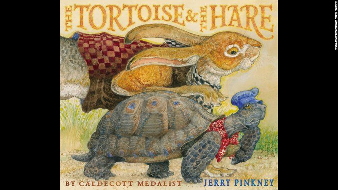 "<strong>Coretta Scott King - Virginia Hamilton Award for Lifetime Achievement:</strong> Jerry Pinkney. His book ""The Tortoise & the Hare"" is shown here."