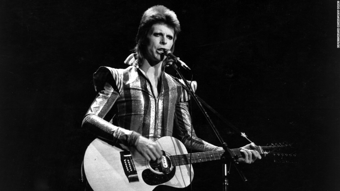 Bowie performs his final concert as Ziggy Stardust at the Hammersmith Odeon in London on July 3, 1973. The concert later became known as the Retirement Gig.