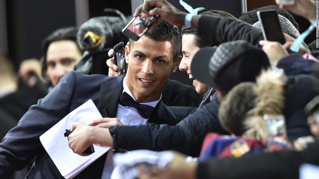Messi's Real Madrid rival Cristiano Ronaldo may have missed out on a third successive victory at the awards, but the Portugal star was a crowd-pleaser on the red carpet ahead of the ceremony in Zurich, Switzerland.
