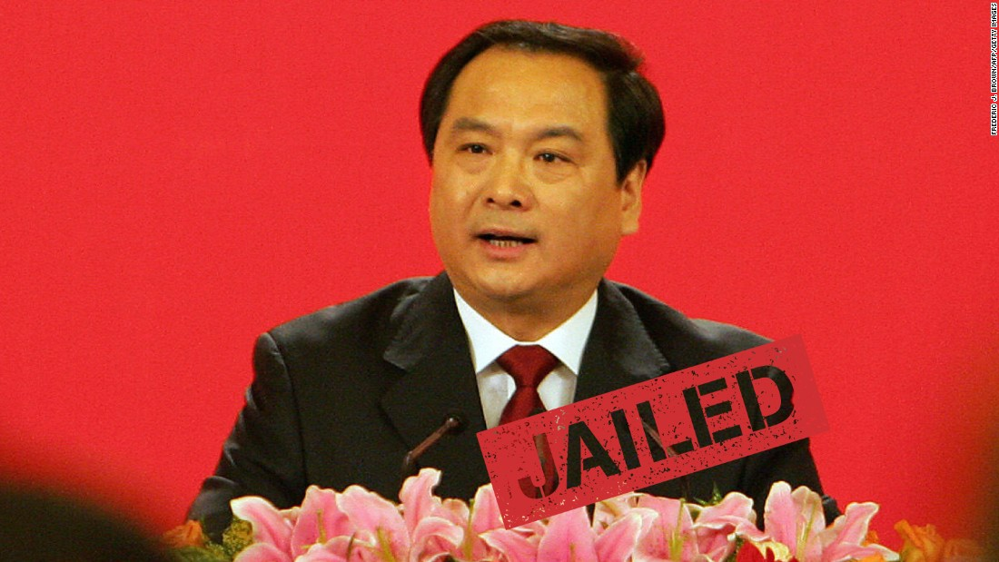 """A Chinese court in the northern city of Tianjin sentenced a former vice minister of public security to 15 years in prison for corruption, state media reported Tuesday, January 12. Li Dongsheng, 60, was charged with taking almost 22 million yuan ($3.3 million) in bribes from 2007 to 2013. He was a protégé of disgraced former domestic security czar Zhou Yongkang, who was <a href=""""http://cnn.com/2015/06/11/asia/china-zhou-yongkang-sentence/"""">sentenced to life in prison in June 2015</a> for corruption offenses."""