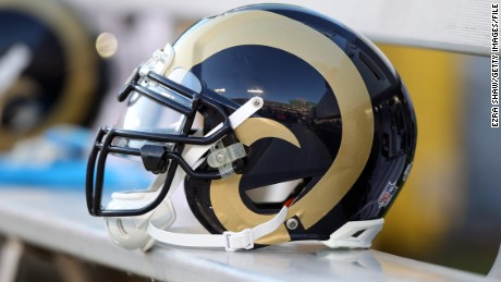OAKLAND, CA - AUGUST 14:  A St. Louis Rams helmet sits on the bench during their game against the Oakland Raiders at O.co Coliseum on August 14, 2015 in Oakland, California.  (Photo by Ezra Shaw/Getty Images)