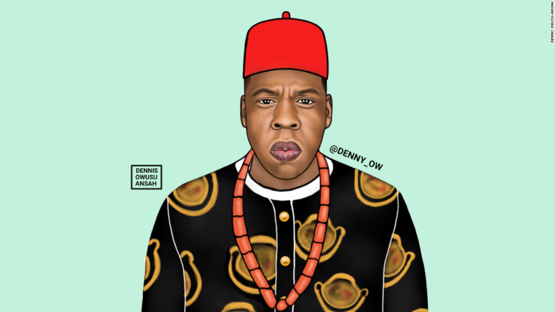 "With over 12,000 Instagram followers, Owusu-Ansah has a successful Instagram page where he has created Jay Z and called him Chief Shawn ""Ugonna"" Jay Z Carter."