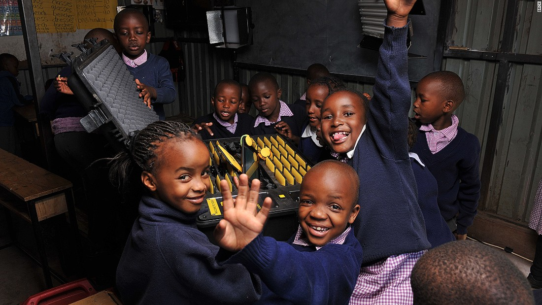 "Light House Grace Academy in Kawangware, Nairobi, is one of the first schools to test out BRCK's ""Kio Kit"" -- a tough tablet designed to provide digital education to primary school children."