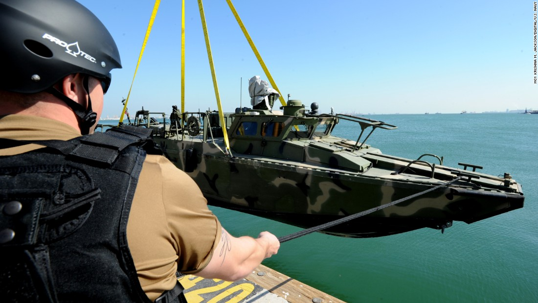 The boats provide riverine forces with the capability of operating in littoral waters (near the shore).
