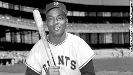 MANHATTAN, NY - 1950's:  Outfielder Monte Irvin of the New York Giants poses for a portrait prior to a 1950's game at the Polo Grounds in Manhattan, New York. Irvin played for the Giants from 1949-1955. (Photo by Kidwiler Collection/Diamond Images/Getty Images)
