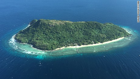 Pictures of private island Ariara. Related to Business Traveller episode, January 2016.