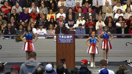 little girls dance at donald trump florida rally_00000000