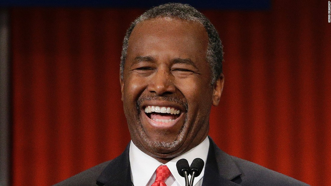 "Carson promised this week he would ""insinuate"" himself into the conversation when needed. After a discussion between Rubio and Christie during the debate, Carson told moderator Neil Cavuto, ""Neil I was mentioned too."" Cavuto asked, ""You were?"" Carson quipped, ""Yeah, he said everybody."" On a more serious note, Carson noted the ""divisiveness and the hatred"" in today's society. ""We have a war on virtually everything -- race wars, gender wars, income wars, religious wars, age wars. Every war you can imagine, we have people at each other's throat,"" he said. ""And our strength is actually in our unity."""