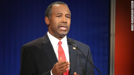 Republican presidential candidate Ben Carson participates in the Fox Business Network Republican presidential debate at the North Charleston Coliseum and Performing Arts Center on January 14, 2016 in North Charleston, South Carolina.