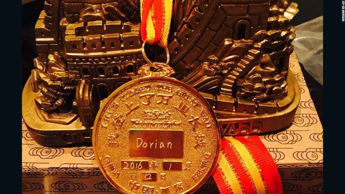Xu told CNN that she has sent the medal, the pictures and a model of the Great Wall by courier to the Murray family in Rhode Island.