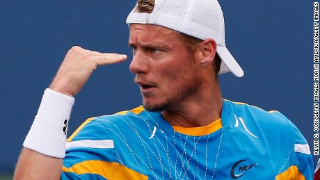 ATLANTA, GA - JULY 27:  Lleyton Hewitt of Australia reacts after winning a point against John Isner during the BB&T Atlanta Open in Atlantic Station on July 27, 2013 in Atlanta, Georgia.  (Photo by Kevin C. Cox/Getty Images)