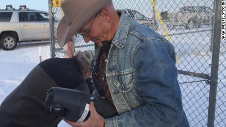 LaVoy Finicum took down what he claimed to be a government spy camera near the Malheur National Wildlife Refuge on January 15. Finicum was killed during an arrest of refuge occupiers.