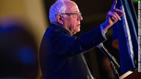 "CHARLESTON, SC - JANUARY 16:  Democratic presidential hopeful Sen. Bernie Sanders (I-VT) speaks at the ""First in the South"" Dinner on January 16, 2016 in Charleston, South Carolina. Sanders is in town campaigning before tomorrow night's democratic presidential debate.  (Photo by Andrew Burton/Getty Images)"