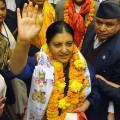 Bidhya Devi Bhandarige 2016 female leader