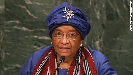 NEW YORK, NY - SEPTEMBER 29:  Ellen Johnson-Sirleaf, President of Liberia, addresses the General Assembly of the United Nations at the UN headquarters on September 29, 2015 in New York City. World leaders gathered for the 70th annual UN General Assembly meeting.  (Photo by John Moore/Getty Images)