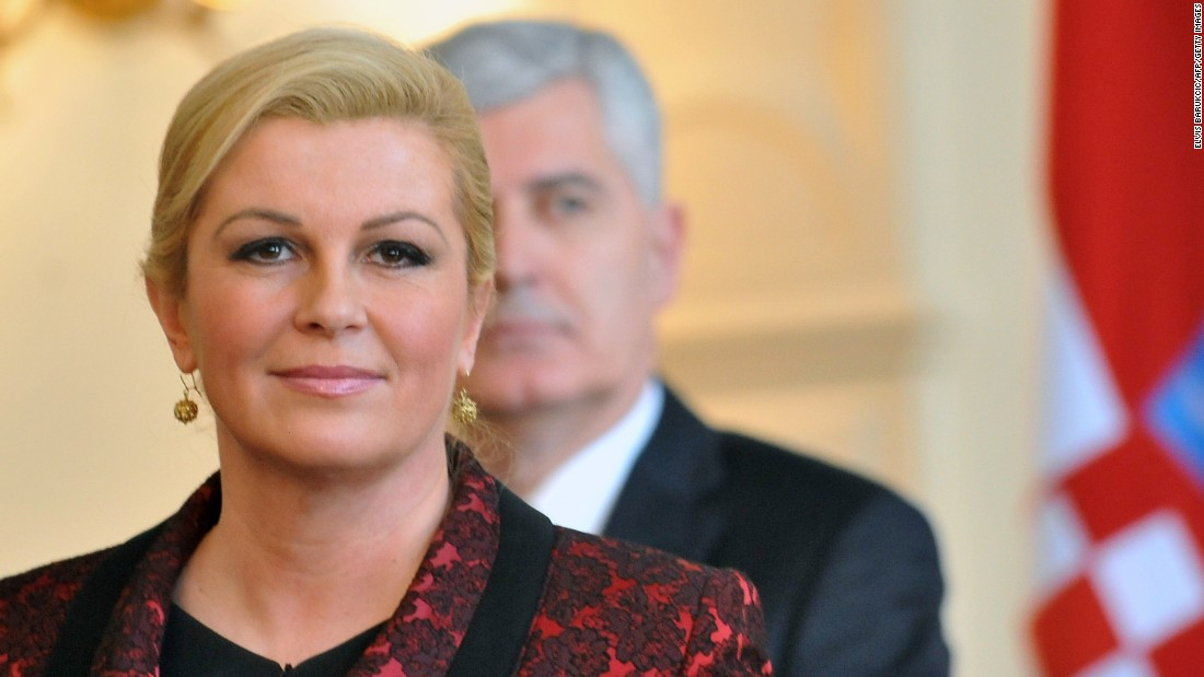 Kolinda Grabar-Kitarović, 47, is the 4th and current President of the Republic of Croatia. She is the first woman to hold the office.